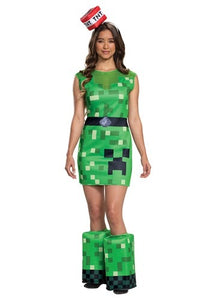 MINECRAFT WOMEN'S CREEPER COSTUME