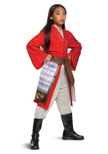 Deluxe Mulan Red Girl's Hero Costume