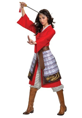 Mulan Deluxe Hero Red Costume for Women
