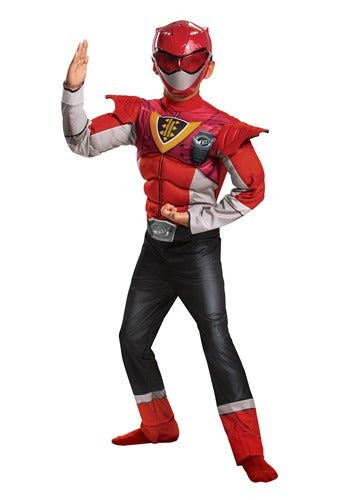 Red Ranger Power Rangers Classic Beast Morphers Child Power Up Costume