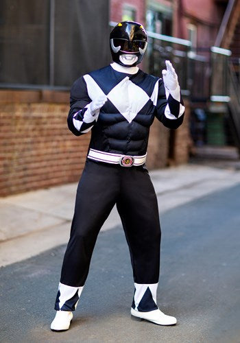 Power Rangers Black Ranger Men's Muscle Costume