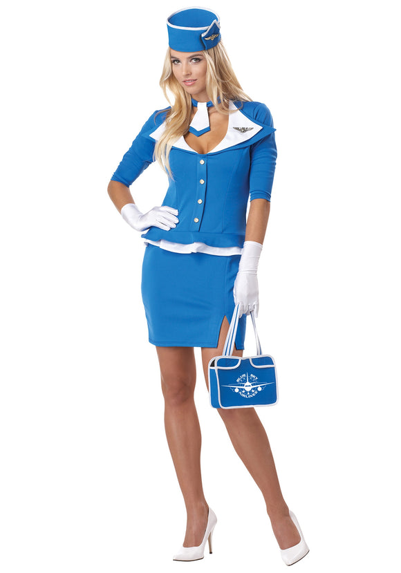 WOMEN'S SEXY RETRO STEWARDESS COSTUME