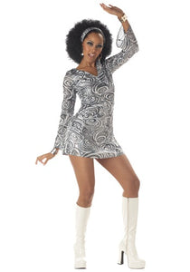 SEXY DISCO DIVA DRESS COSTUME