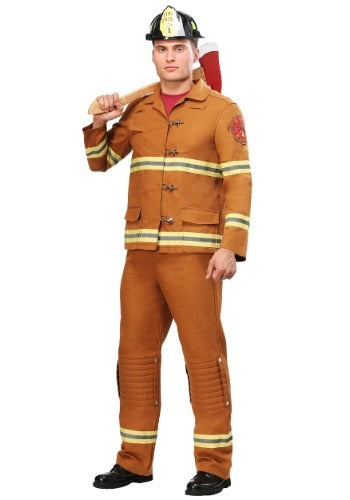 MEN'S TAN FIREFIGHTER UNIFORM COSTUME
