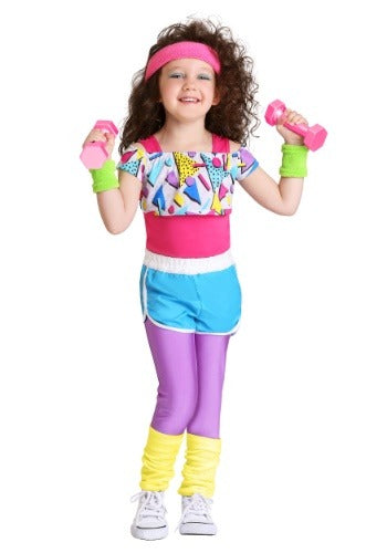 GIRL'S TODDLER WORK IT OUT 80S COSTUME