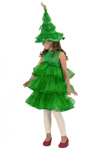 TODDLER/GIRLS GLITTER CHRISTMAS TREE COSTUME