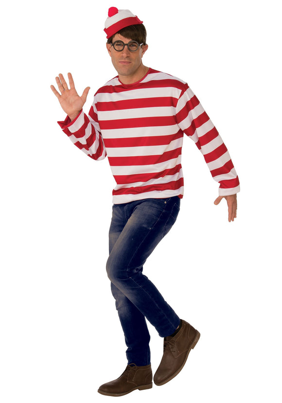 MEN'S WHERE'S WALDO COSTUME