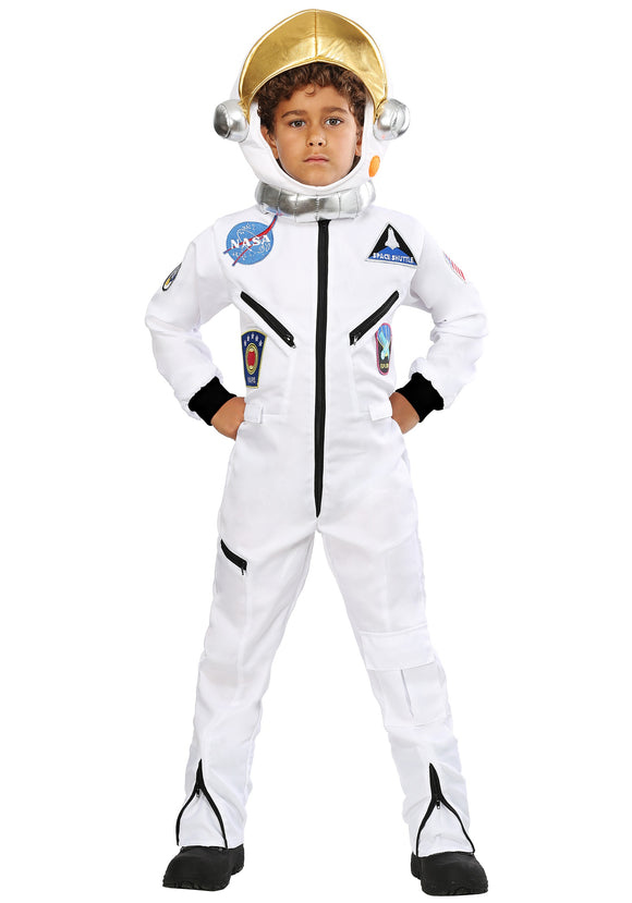KID'S WHITE ASTRONAUT JUMPSUIT COSTUME