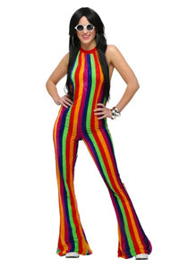WOMENS 70'S DISCO JUMPSUIT COSTUME