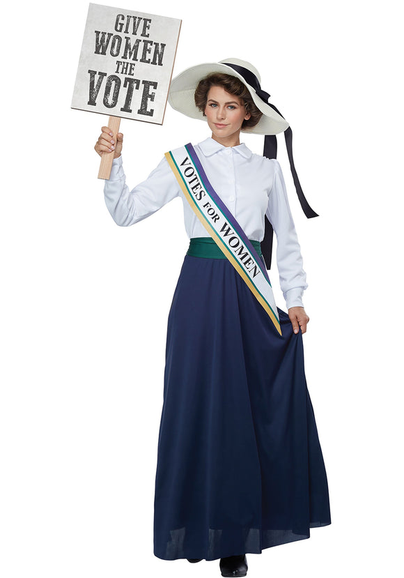 AMERICAN SUFFRAGETTE ADULT COSTUME