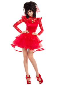 WOMEN'S RED BEETLE BRIDE COSTUME