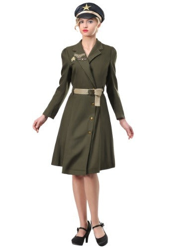 WOMEN'S PIN UP MILITARY CAPTAIN COSTUME