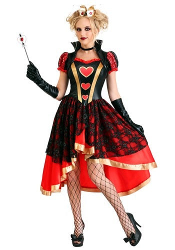 DARK QUEEN OF HEARTS COSTUME FOR WOMEN