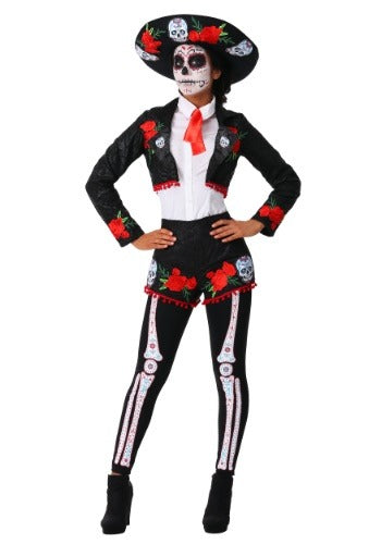 WOMEN'S DAY OF THE DEAD MARIACHI COSTUME