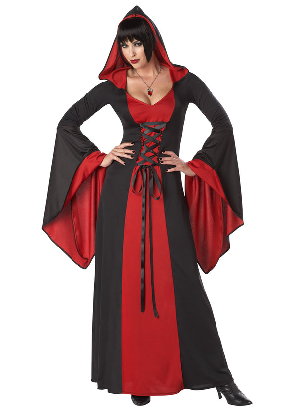 WOMEN'S DELUXE HOODED ROBE COSTUME