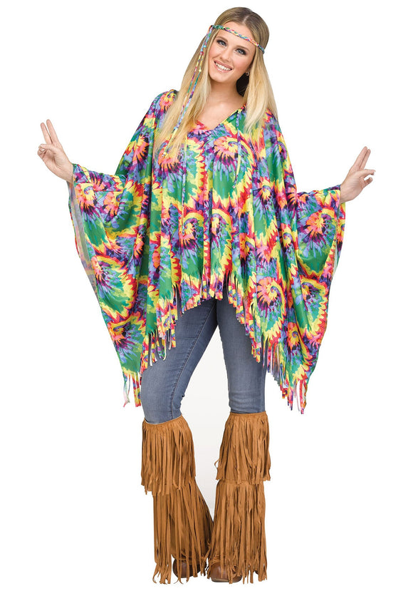 HIPPIE PONCHO COSTUME FOR WOMEN