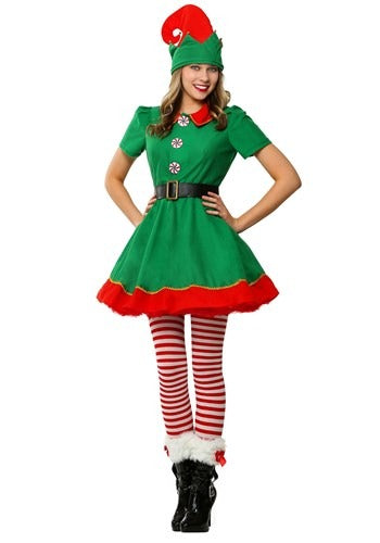 WOMEN'S HOLIDAY ELF COSTUME