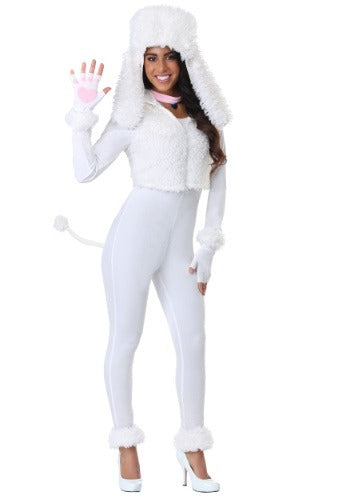 WOMENS WHITE POODLE COSTUME