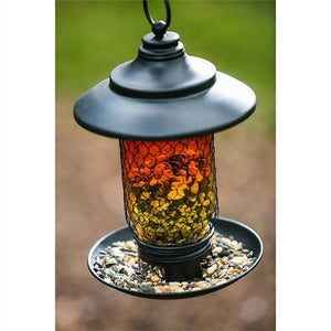 Glass And Metal Bird Feeder