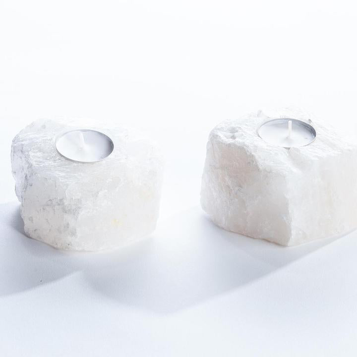 GeoCentral Quartz Crystal Candle Holders