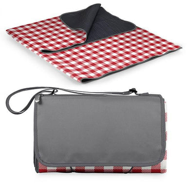Blanket Tote Outdoor Picnic Blanket - Red Check