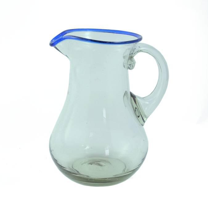 Blue Rim Curvy Pitcher