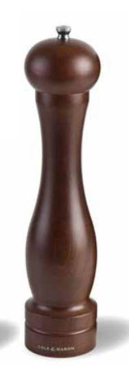 Cole & Mason Precision Forest Capstan Dark Wood Pepper Mill 12