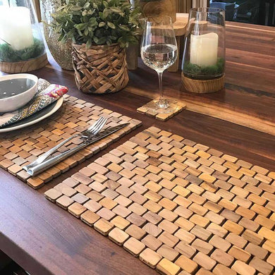 Natural Teak Placemat Set of Two