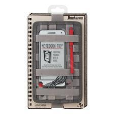 BOOKAROO NOTEBOOK TIDY-CHARCOAL