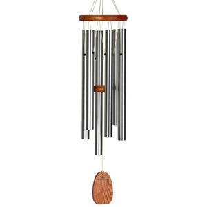 Woodstock Wind Chime Amazing Grace Chime - Medium, Silver