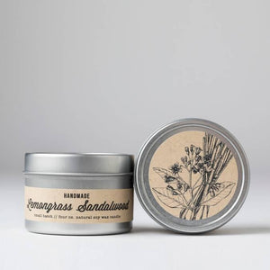 Nectar Republic Lemongrass + Sandalwood : Travel Tin Candle