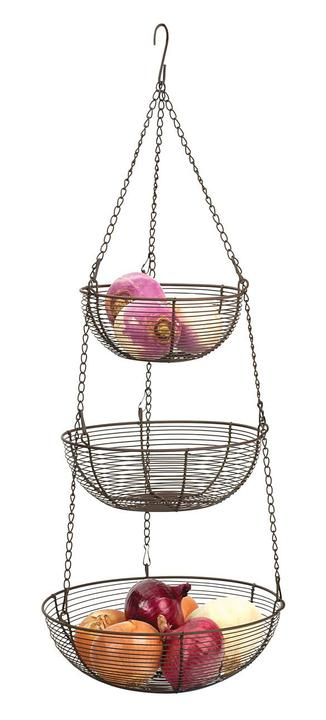 3-TIER HANGING BASKET – BRONZE