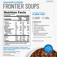 Load image into Gallery viewer, Frontier Soups: Montana Creekside CLASSIC CHILI