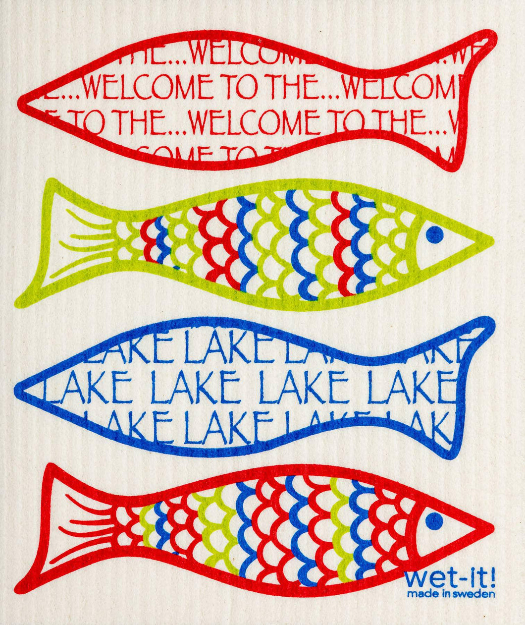 Wet-It! Welcome to the Lake Swedish Cloth