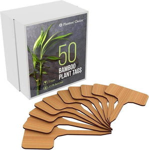 50 Bamboo Plant Labels