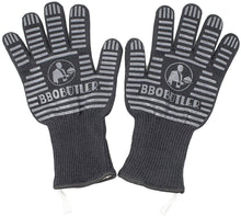 Load image into Gallery viewer, Black Fabric BBQ Gloves - Pair