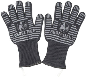 Black Fabric BBQ Gloves - Pair