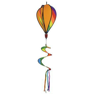 Rainbow Striped Hot Air Balloon
