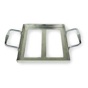 "Salt Plate Stainless Steel Tray - Holder 8"" x 8"" x 2"""