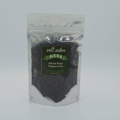 S.A.L.T. Sisters Whole Black Peppercorns
