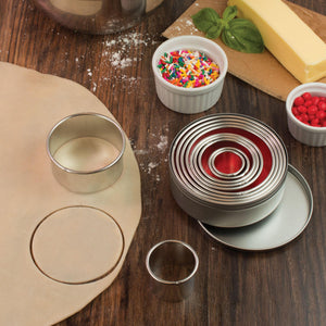 Mrs Anderson's Baking Cookie Cutter, Round, Set 11