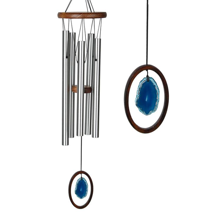 Woodstock Wind Chime Agate Chime - Large, Blue