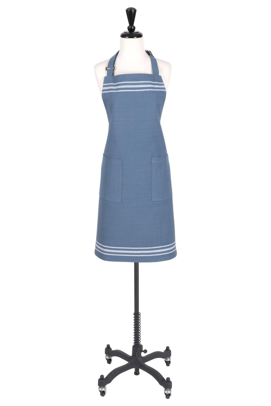 Christopher Kimball's Milk Street Apron - French Stripe -Bering Sea