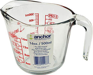 Anchor Glass Measuring Cup, 2 Cup