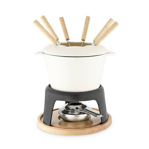 Rustic Farmhouse: Cast Iron Fondue Set by Twine