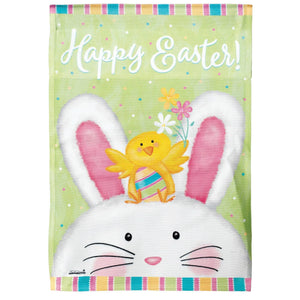 Happy Easter Bunny Flag