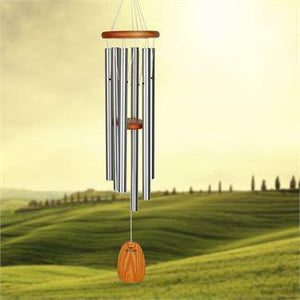 Woodstock Wind Chime Amazing Grace Chime - Large, Silver
