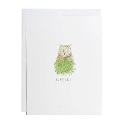 Potting Shed Creations Purrfect Greeting Card