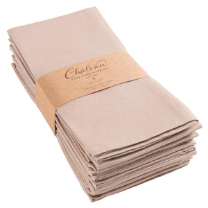 Chateau Easy Care Napkins - Set of 12-Linen