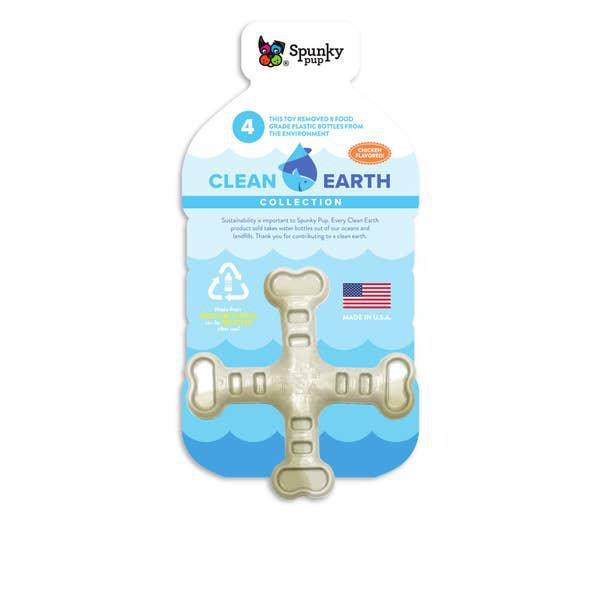 Clean Earth Recycled Crossbones - Dog Toy